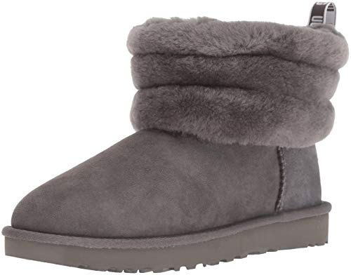 UGG Women's W Fluff Mini Quilted Fashion Boot, Charcoal, for sale  Delivered anywhere in USA