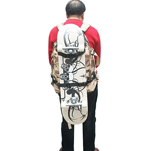 Skateboard Backpack Attachment Skateboard Backpack Holder Keeper Strap - Change Your Ordianry Backpack into Skateboard Backpack ! NO Backpack, NO Skateboard