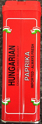 Hungarian Sweet Paprika, 5-Ounce Tins (Pack of 6)