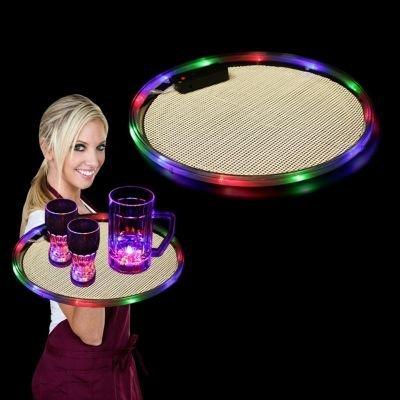 Flashing Panda Multi-Color LED Flashing 14 Inch Bar Serving Tray
