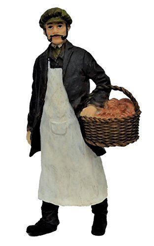 Melody Jane Dollhouse People Baker Basket Fresh Bread Resin Figure
