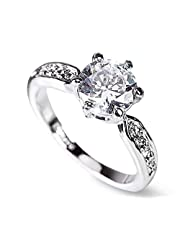 Women 's ring with white gold with cubic zircon