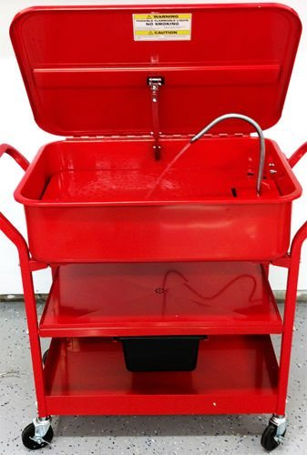 Washer Cart Electric Portable With Wheels For Mobile Parts Solvent Pump Drying Shelves Cleaning 20 Gallon Capacity - House Deals by House Deals (Image #1)