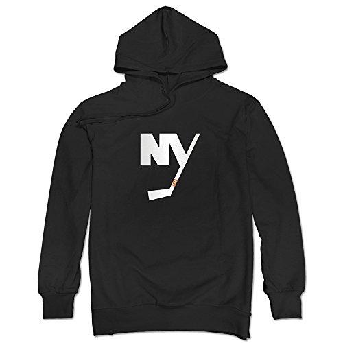 JUST Men's 2015 New York Islanders Alternate Logo Hoodie Sweatshirt Black