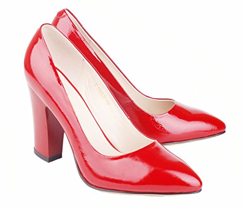 5 Montants NIUERTE Wrinkle Red Femme Patent Wife 36 0AwwxfnqUz