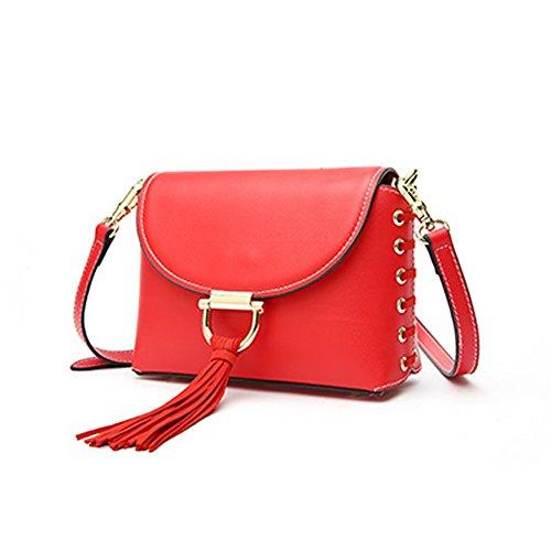 Charol Para Al Bolso Medium Mujer De Rojo Hombro Valin xXnR56zn