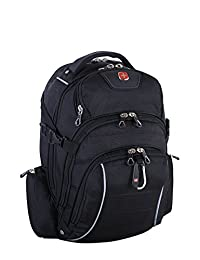 Swiss Gear Rainproof Backpack can accommodate most 15.6 to 17.3-inch Laptop, Carry-on, Black