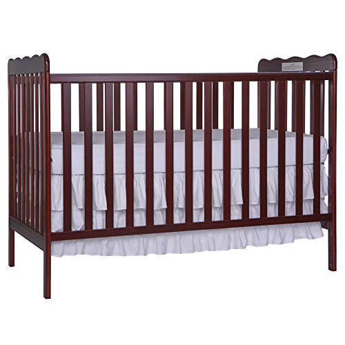 Dream On Me, Carson Classic 3 in 1 Convertible Crib in Cherry 1 Drop Side Convertible Crib