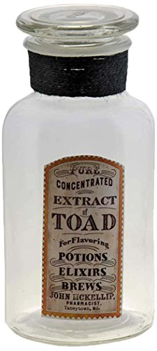 CWI Gifts Extract of Toad Glass Jar ()