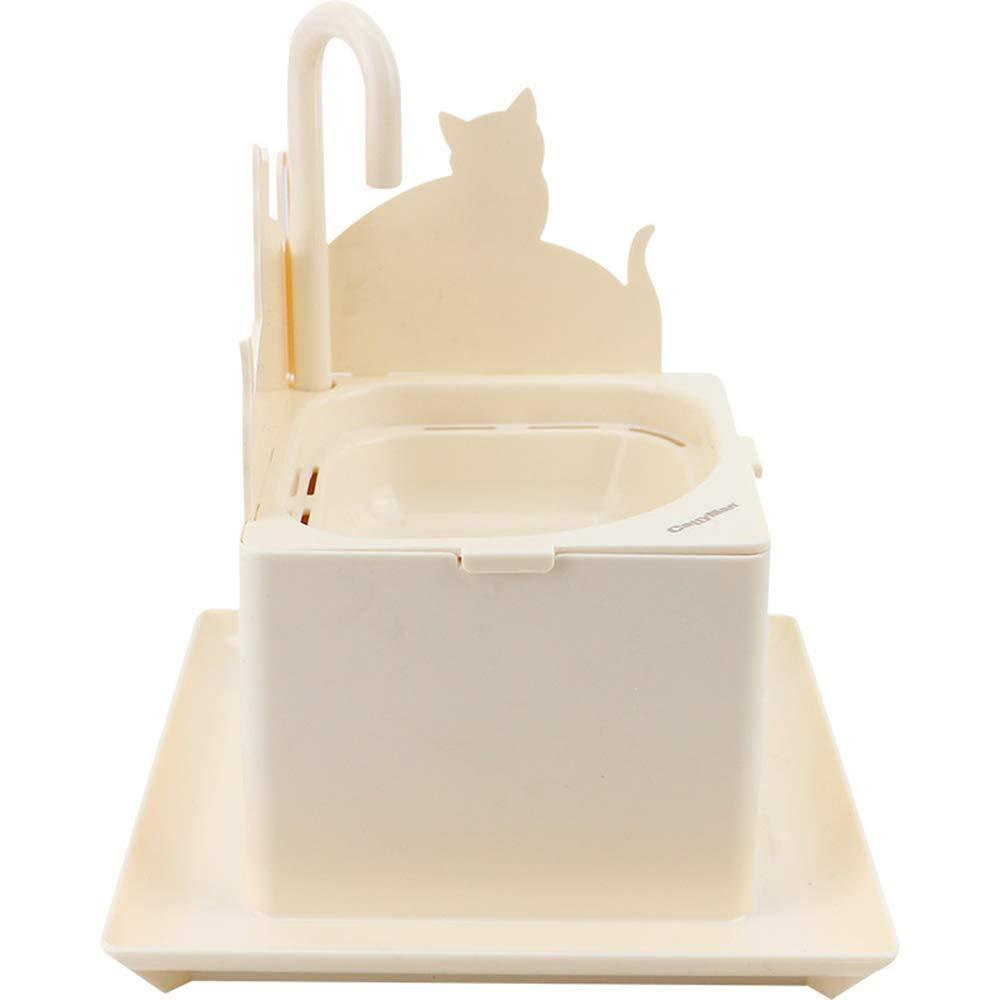 CWY Fuente de Agua Potable Móvil del Dispensador Automático del Agua del Dispensador del Agua del Animal Doméstico, Blanco, 17.8 * 21 * 10 cm