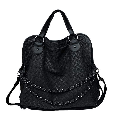 (Chikencall Womens Handbags And Purse,Woven Pattern Chain Totes Shoulder Bags Satchels Ladies Crossbody Bag)