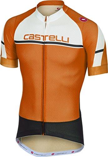 Castelli Distanza Full-Zip Jersey - Men's Orange, L