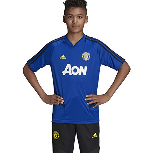 adidas Kid's Manchester United Training Jersey 2019-20 (Large) Mystery Ink/Collegiate Navy