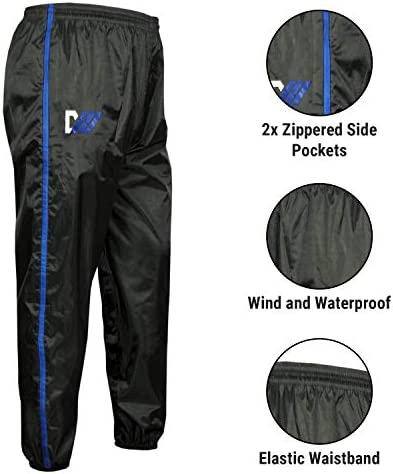 DMoose Sauna Suit for Men and Women, Sweat Suit for Weight Loss 2 Pc Set, Zipper Jacket Pant with Hood Full Body Gym Fit Wear, Anti-Rip Workout Suit Sports Running Cycling Yoga Pilates Boxing Anti-Rip 3