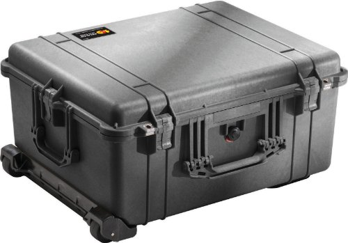 Pelican 1610 Case With Padded Dividers (Black) by Pelican