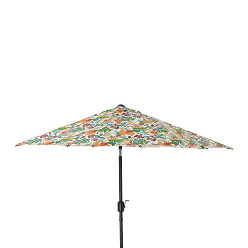 Cheap Pillow Perfect Lensing Jungle 9-Foot Patio Market Umbrella