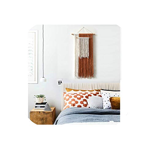 Macrame Wall Hanging Woven Tapestry Handmade Bohemian Home Decor Boho Chic Apartment Studio or Dorm Decorative,as picture1 (Decorating A Small Studio Apartment On A Budget)