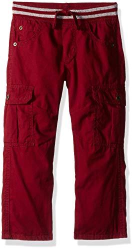 Gymboree Pants - Gymboree Boys' Big Loose Fit Straight Cargo Pants, Khaki Maroon, S
