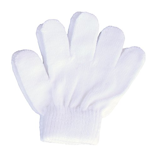 A&R Sports Toddler Handgards Gloves, White -