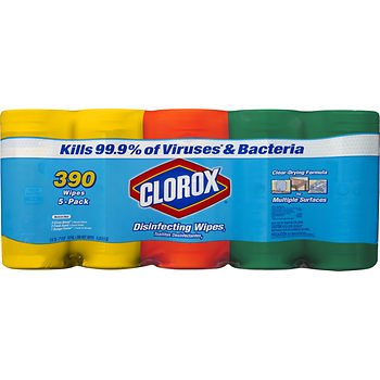 Clorox Disinfecting Wipes Value Pack, 390 Disinfecting Wipes by Kimberly-Clark Professional