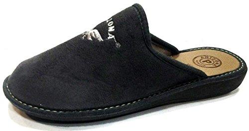 Patrizia - Zapatillas de estar por casa de tela para hombre gris gris 43