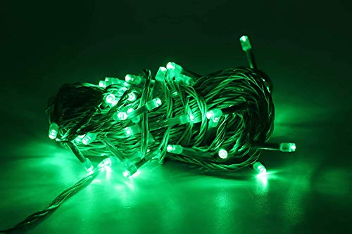 KnottyCord   Decorative LED Green String Lights Nonblink (15 Meter) for Home Decor, Christmas, Diwali and Festive…