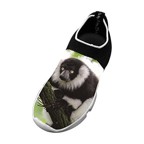 (Ruffed Lemur New Fashion Flyknit 3D Printing Shoe For Boys Girls)