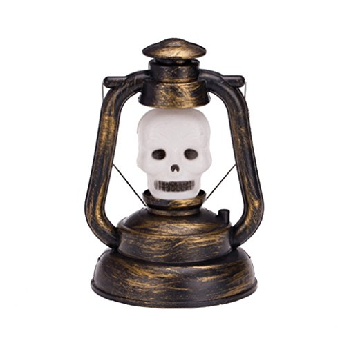 Homemade Outdoor Halloween Ghosts (Skeleton Halloween Prop Lantern Lamp With Spirits Light For Outdoor With Horror Sound)