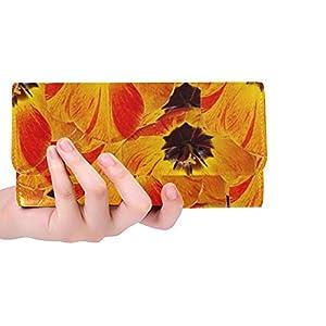 Unique Custom Flowers Tulips Spring Flora Garden Beauty Plant Women Trifold Wallet Long Purse Credit Card Holder Case Handbag