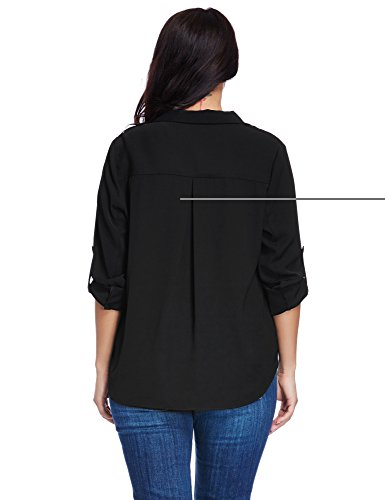LookbookStore Women's Plus Size Black Casual Zipper Asymmetric Blazer Jacket 3X