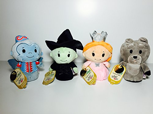 Itty Bittys Glinda, Wicked Witch, Winged Monkey and Toto The Wizard of Oz Limited Edition Hallmark Collectible (Hallmark The Good Witch Halloween)