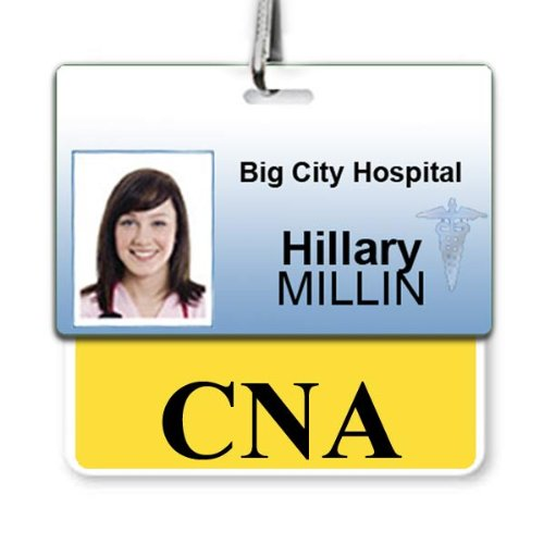 """""""CNA"""" Horizontal Badge Buddy with Yellow Border by Specialist ID, Sold Individually"""