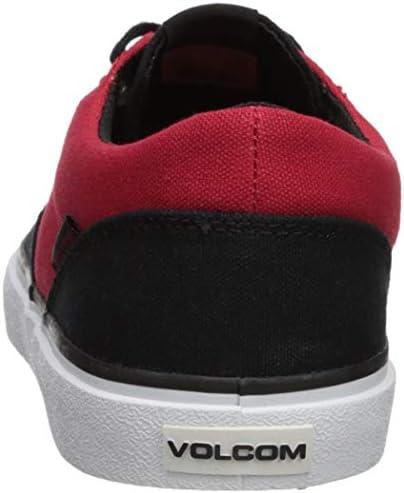 Volcom Mens Draw LO Canvas Vulcanized Skate Shoe, rad red, 8 D US