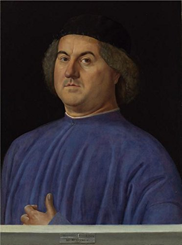 Space Marine Costume Price (The High Quality Polyster Canvas Of Oil Painting 'Alvise Vivarini-Portrait Of A Man,1497' ,size: 18x24 Inch / 46x61 Cm ,this Best Price Art Decorative Canvas Prints Is Fit For Powder Room Gallery Art And Home Artwork And Gifts)