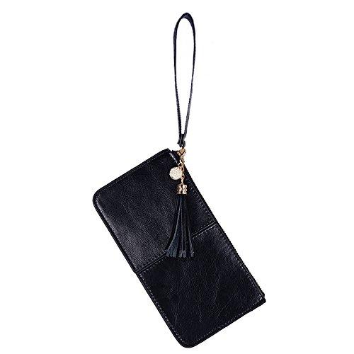 Lovena Leather Wristlet Smartphone Zipper