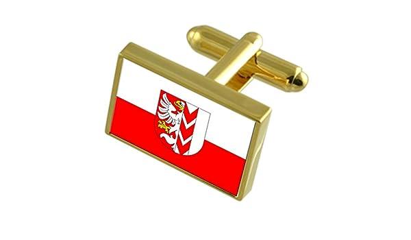 Opava City Czech Republic Flag Cufflinks