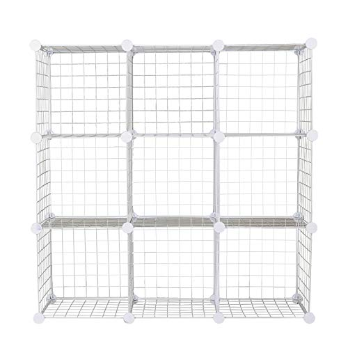 C&AHOME Metal Wire Storage Cubes DIY White