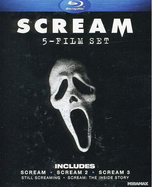 Amazon Com Scream Five Film Set Scream Scream 2 Scream 3 Still Screaming The Ultimate Scary Movie Retrospective Scream The Inside Story Blu Ray Neve Campbell Courteney Cox David Arquette Skeet