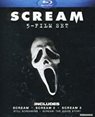 """Scream: After a series of mysterious deaths befalls their small town, an offbeat group of friends led by Sidney Prescott (Neve Campbell) become the target of a masked killer in this smash-hit """"clever thriller"""" (The Washington Post) that launc..."""
