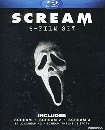 Amazon Com Scream Five Film Set Scream Scream 2 Scream 3 Still Screaming The Ultimate Scary Movie Retrospective Scream The Inside Story Blu Ray Neve Campbell Courteney Cox David Arquette Skeet