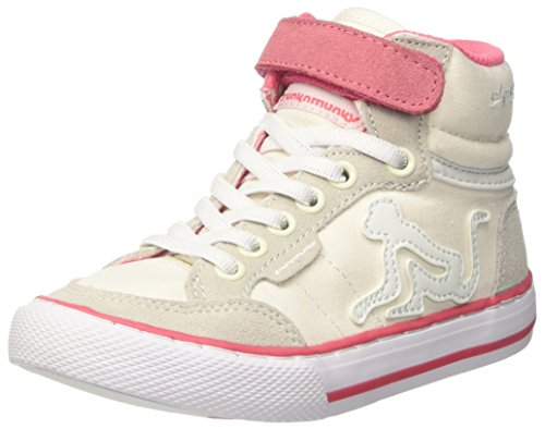 DrunknMunky Boston Classic, Zapatillas de Tenis Niñas Bianco (Ivory/Rose)