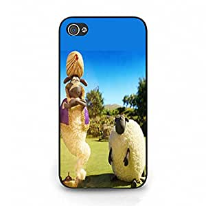 Iphone 4/4s Phone Case,Shaun the Shee Cover Case Fun Comic Series High Quality Premium Mobile Phone Case with Classic Shaun the Shee Logo