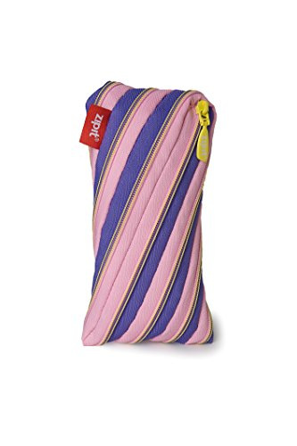 ZIPIT Twister Pencil Case, Plum and Light Pink
