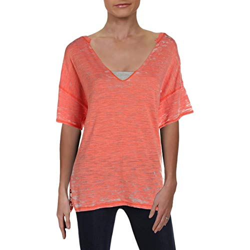 Free People Cotton Camisole - Free People Womens Maddie Burnout Oversized T-Shirt Pink M