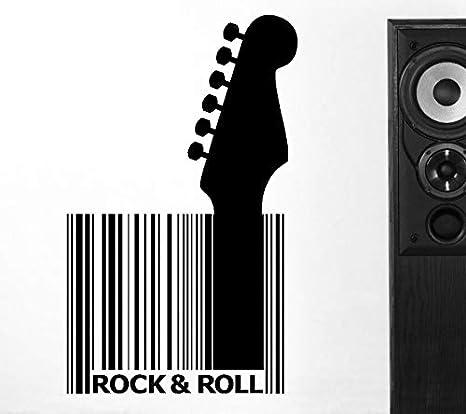 Música calcomanías de pared Vinilo Guitarra Código de barras ...