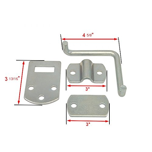 Pkg of (2) Corner Gate Latch Sets for Stake Body Gates - Clear Zinc by Boxer Tools (Image #2)