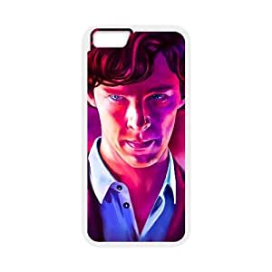 Generic for iPhone 6 Plus 5.5 Inch Cell Phone Case White Benedict Cumberbatch Custom HSFFLDGKO3140