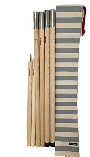 Wood pole (ウッドポール) 2ポール+キャリングバッグセット  バッグカラー:グレー B01N0AOKM3
