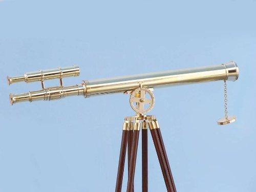 Hampton Nautical  Floor Standing Brass Griffith Astro Telescope, 64'', Brass