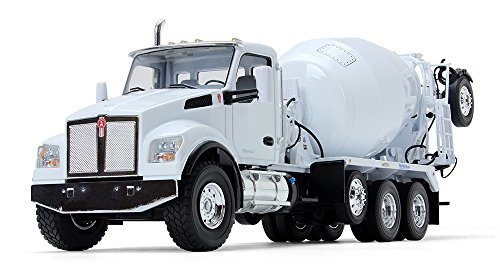 First Gear 1/34 Scale Diecast Collectible White Kenworth T880S with McNeilus Bridgemaster Mixer (10-4145)